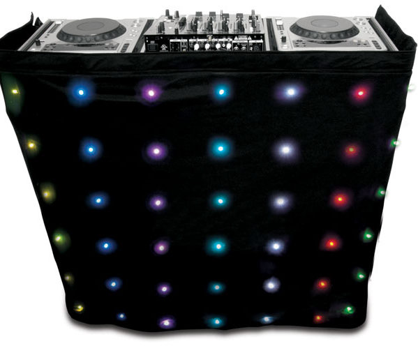 DJ booth LED motion drape Small