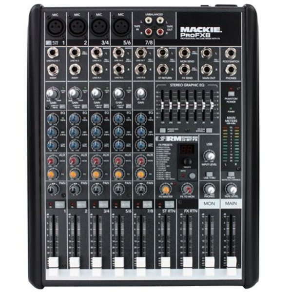 Mackie ProFX8 compact 8ch mixer 4 line en of 3 stereo