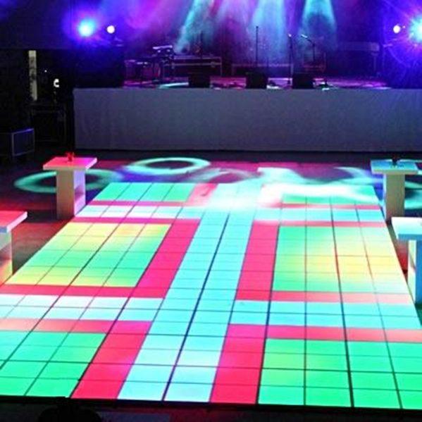 Ledvloer Multileds 6 x 4 (24m²) compleet verlichte dansvloer