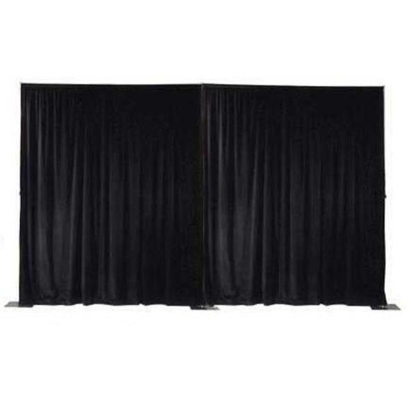 Pipe/ligger systeem + doek zwart per m¹ hoogte 3 mtr. (pipe & drape)