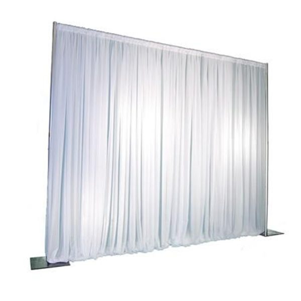 Pipe and Drape systeem + doek wit per m¹ hoogte 4 meter (pipe&drape)