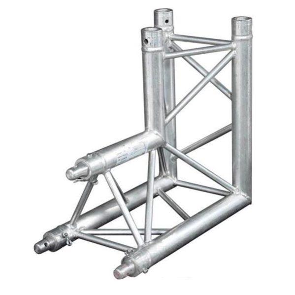 Prolyte truss X30D-C007 tweeweg hoekstuk 90 graden staand