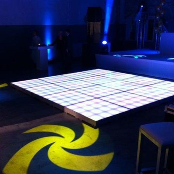ledvloer RGB Tiles 12m² compleet verlichte dansvloer