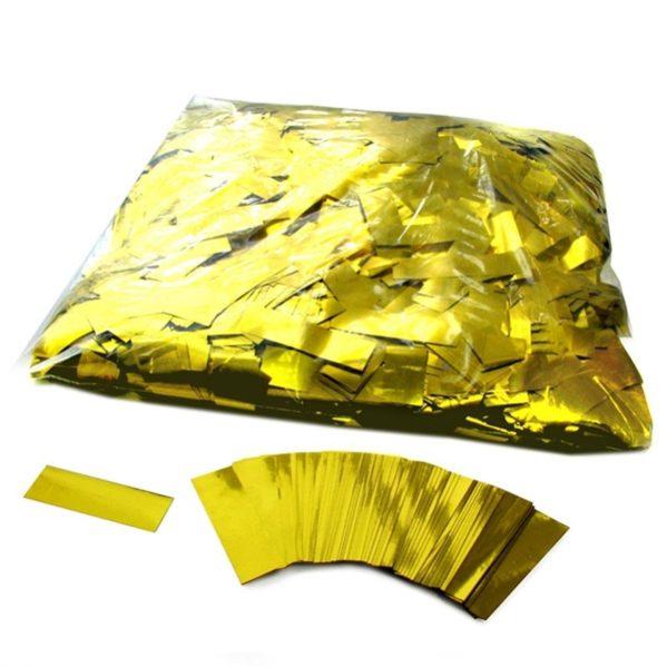 Slowfall confetti metalic 55x17mm 1kg zak Goud