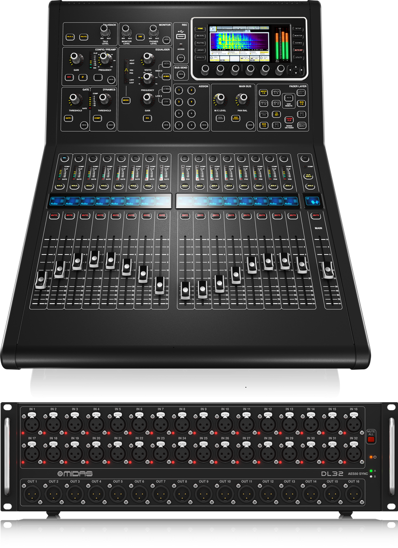 Midas M32R + DL32 Live digitale mixer geluidstafel