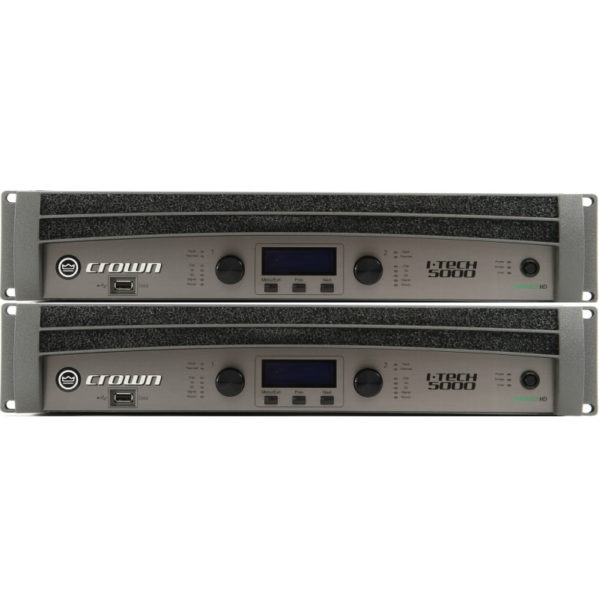 Crown I-tech5000HD amplifier rack