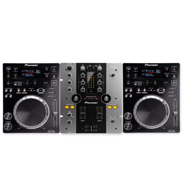 DJ set pioneer DJM250 CDJ350 DJ gear huren