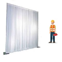 all area pipe and drape syteem wit plus opbouw