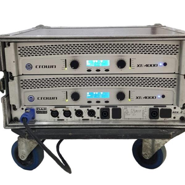 Crown Xti 4000 amplifier rack