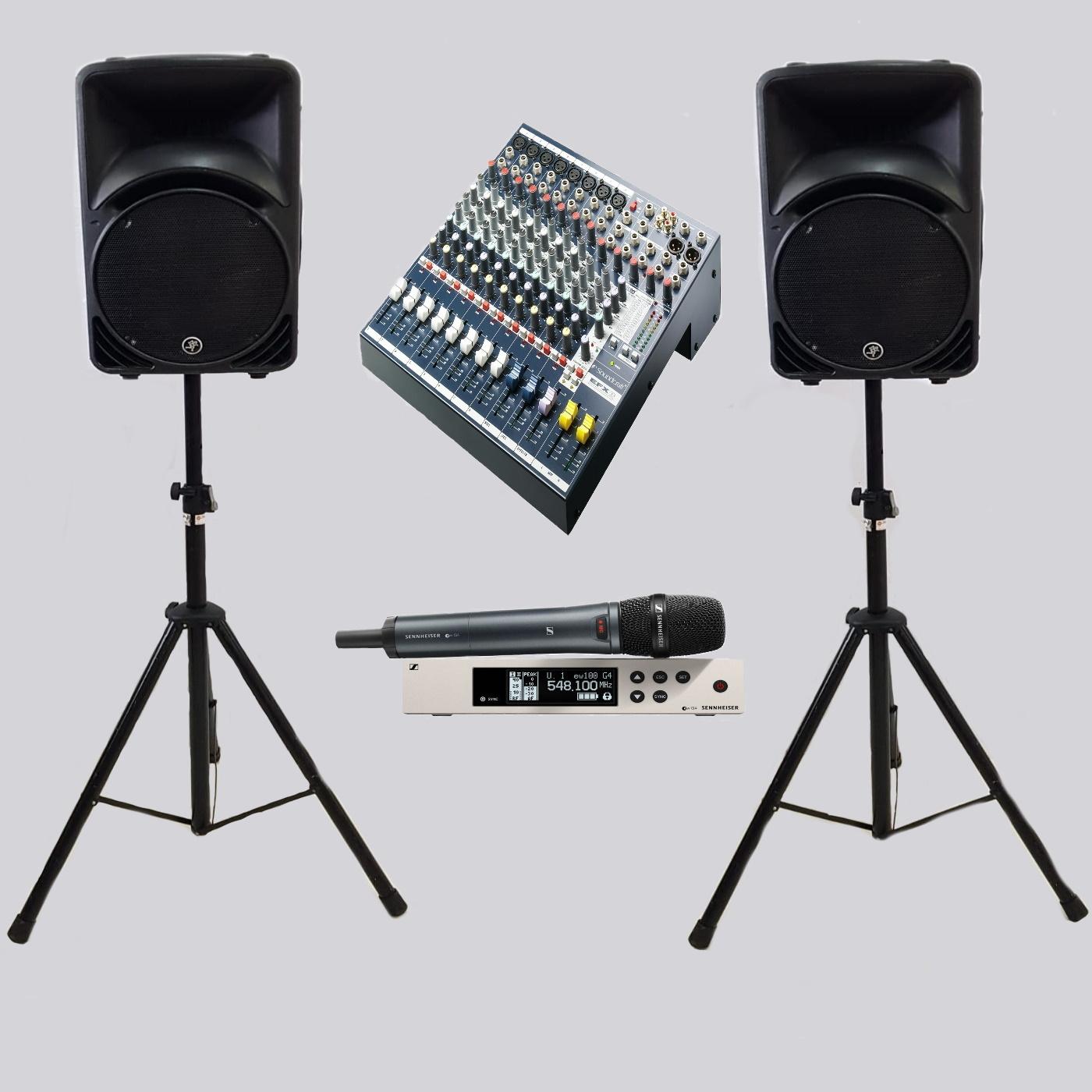 Spraakset tot 50pax draadloos geluid huren