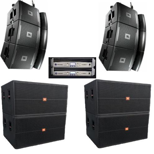 JBL VRX (10kW) speakerset (line array) geluid huren