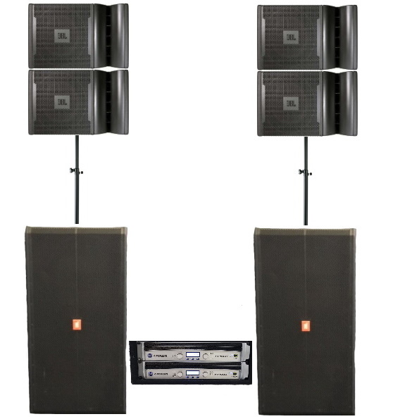 JBL VRX 932LA (6400watt) speakerset (line array-stack) geluid huren