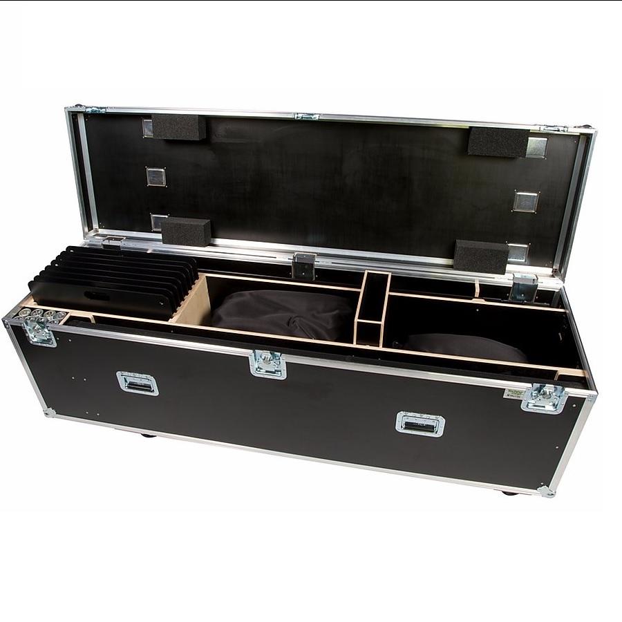 wentex pipe and drape kit 25m gordijn zwart satijn