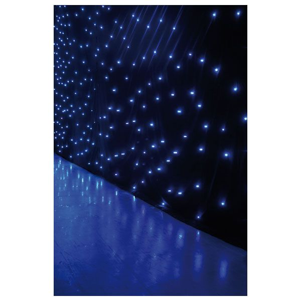 Showtec LED Sterrendoek cloth 6 x 4 meter Wit LEDS