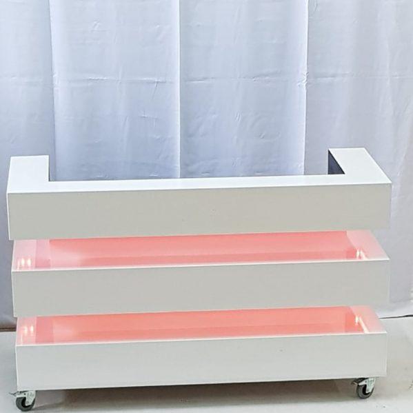 DJ Booth WHITE blok dubbel LED segment