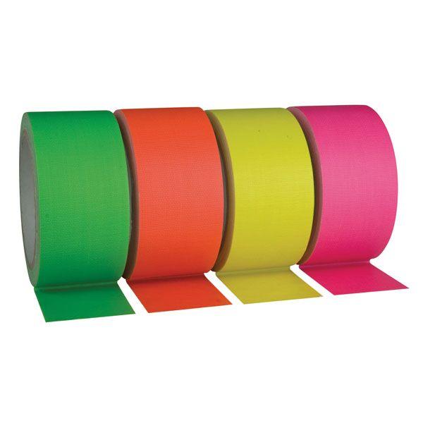 neon tape fluor groen/oranje/geel/roze